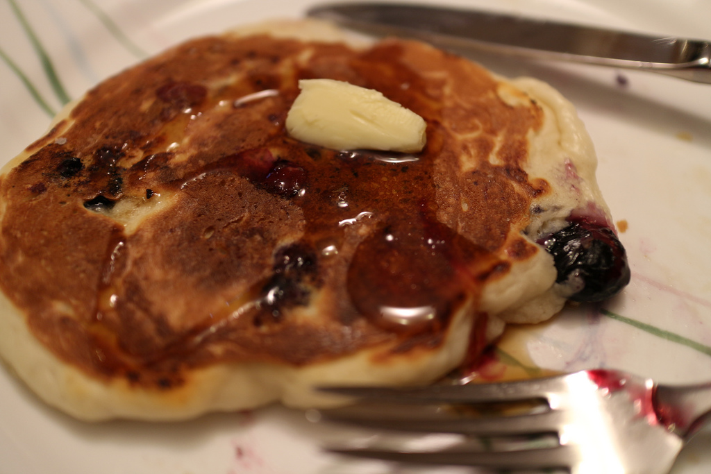 Blueberry Pancakes for Two